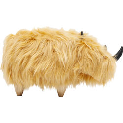 Stool Rhino Fur Brown