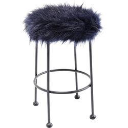 Stool Ontario Fur Dark Blue Ø30cm