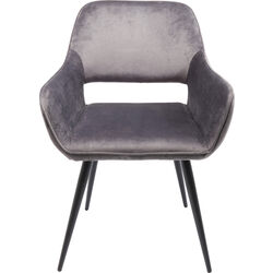 Chair with Armrest San Francisco Grey