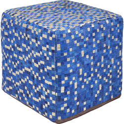 Pouf Pixel Blue 40x40cm