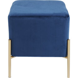 Stool Franzi Blue Gold 37x37cm
