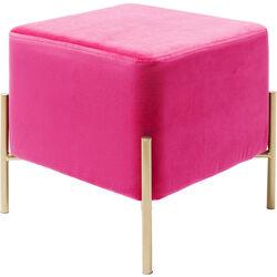 Taburete Franzi Pink Gold 37x37cm