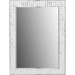 Mirror Crystals Steel Chrome 80x60cm