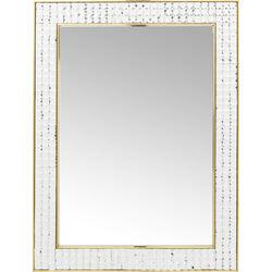 Specchio Crystals Steel oro 80x60cm