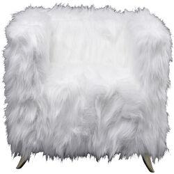 Sillón Cottage Fur blanco latón