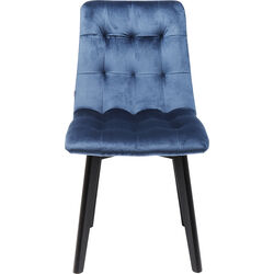 Chair Black Moritz Velvet Blue