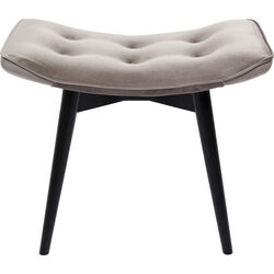 Stool Black Vicky Velvet Grey 46x59cm