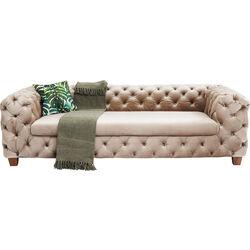 Sofa Desire 3-Seater Velvet Ecru