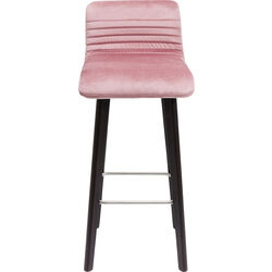 Bar Stool Black Lara Velvet Mauve