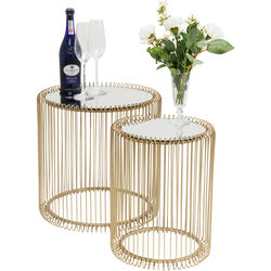 Side Table Wire Brass (2/Set) Ø44cm