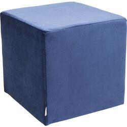 Sitzwürfel Velvet Blau