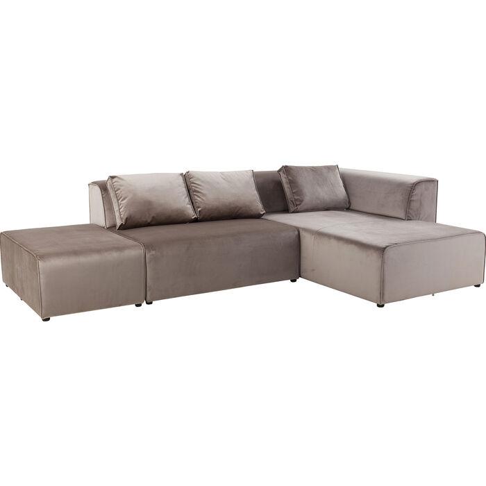 Taupe Velvet Sofa: Sofa Infinity Velvet Taupe Right