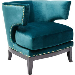 Arm Chair Art Deco Bluegreen