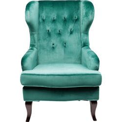 Wing Arm Chair Vintage Bluegreen