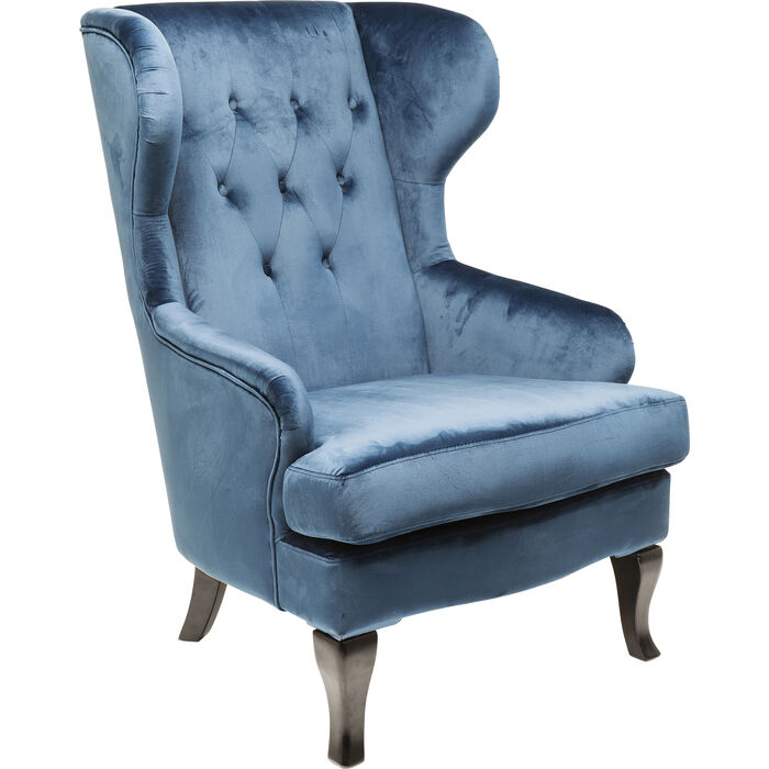 Magnificent Wing Arm Chair Vintage Blue Kare Design Gmtry Best Dining Table And Chair Ideas Images Gmtryco