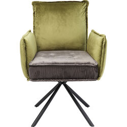 Chair with Armrest Chelsea Green