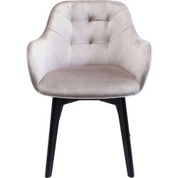 Chair with Armrest Black Lady Grey
