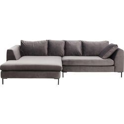 Corner Sofa Velvet Gianna Grey Left