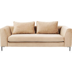 Sofa Black Gianna Velvet Champagner 3-seater