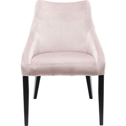 Chair Black Mode Velvet Mauve