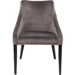 Chair Black Mode Velvet Grey
