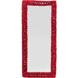 Mirror Rose Rectangular Red 180x80cm