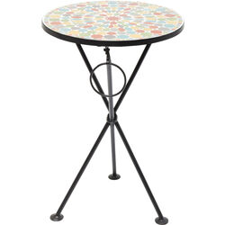 Side Table Clack Mosaic Colore Ø36cm