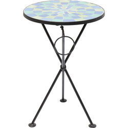 Side Table Clack Mosaic Blue Green Ø36cm