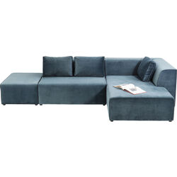 Sofa Infinity Velvet Ocean Right