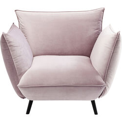 Arm Chair Molly Velvet Mauve