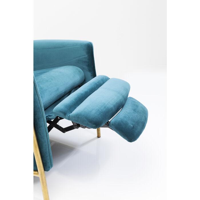 Fauteuil Design Kare Lazy Bleu Velours 8w0Nnvm