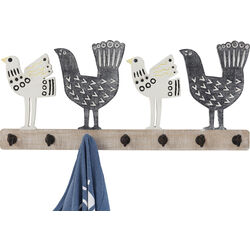 Coat Rack Chicken Family