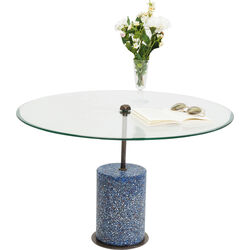 Coffee Table Terrazzo Visible Blue 47cm