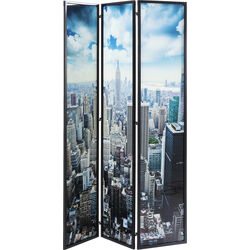 Room Divider Glass NY Skyline