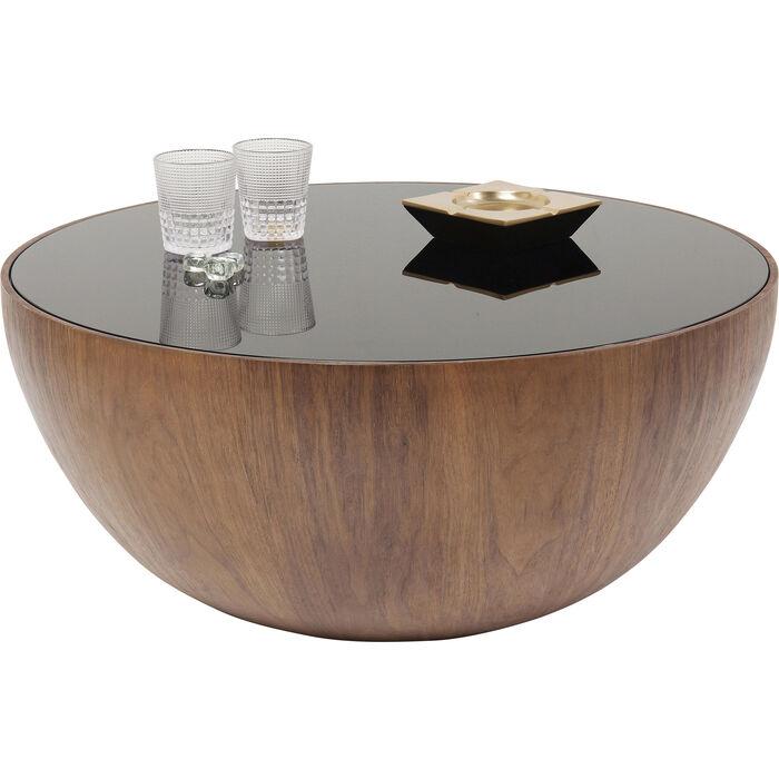 Coffee Table Tear Drops Walnut O80cm Kare Design