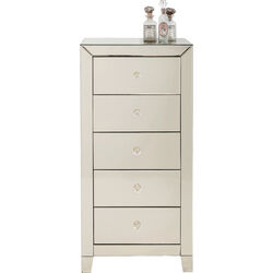 High Dresser Luxury Champagne 5 Drawers