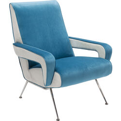 Arm Chair Luna High Light Blue