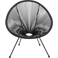 Arm Chair Acapulco Black