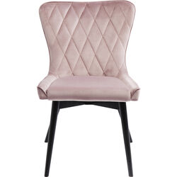 Chair Black Marshall Velvet Mauve