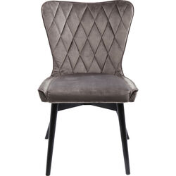 Chair Black Marshall Velvet Grey