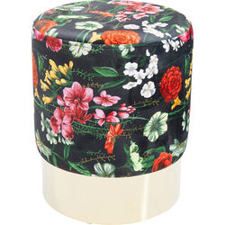 Stool Cherry Flores Brass  Ø35cm