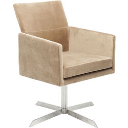 Swivel Arm Chair Dialog Beige