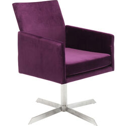 Swivel Arm Chair Dialog Purple
