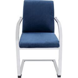 Cantilever Armchair Candodo Velvet Bluegreen