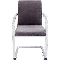 Cantilever Armchair Candodo Velvet Grey