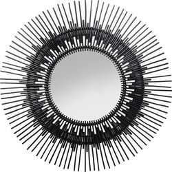 Mirror Icario Black Ø90cm