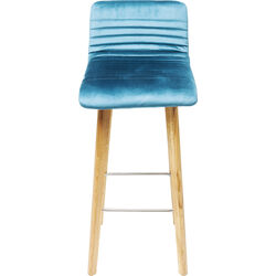Bar Stool Lara Velvet Bluegreen