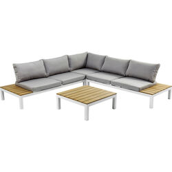 Sofa Set Holiday White (4-Pieces)