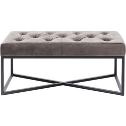 Bench Crossover Grey Black 90x40cm