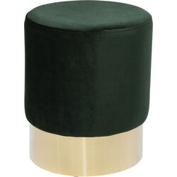 Stool Cherry Dark Green Brass Ø35cm